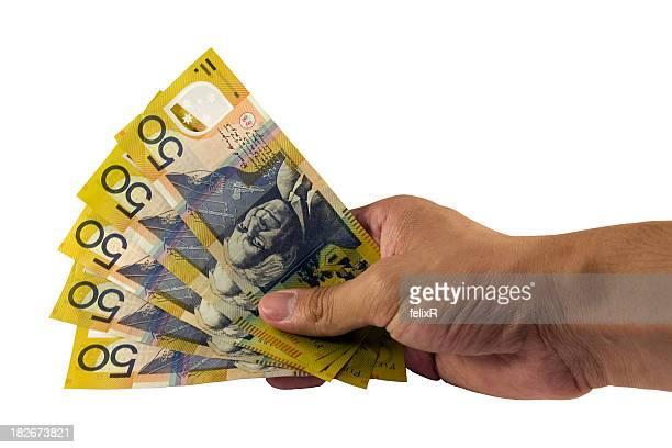 australian 50's - banknote stock pictures, royalty-free photos & images