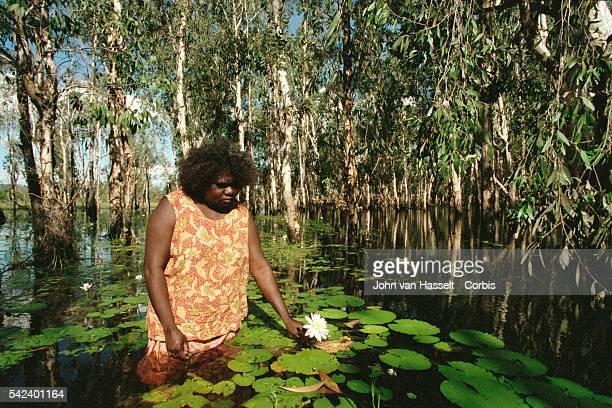 Australian Aborigine woman in Kakadu National Park