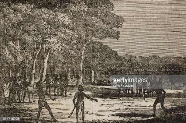 Australian Aborigines Australia illustration from Teatro universale Raccolta enciclopedica e scenografica No 162 August 12 1837