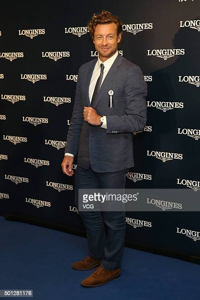 Australian actor and director Simon Baker attends Longines Hong Kong International Races on December 13 2015 in Hong Kong China