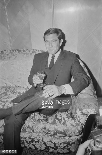 Australian actor and former fashion model George Lazenby who is the new 'James Bond' at a reception at Dorchester Hotel UK 8th October 1968