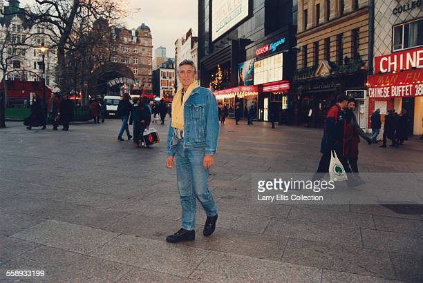 Australian actor and former model George Lazenby in Leicester Square London 1994