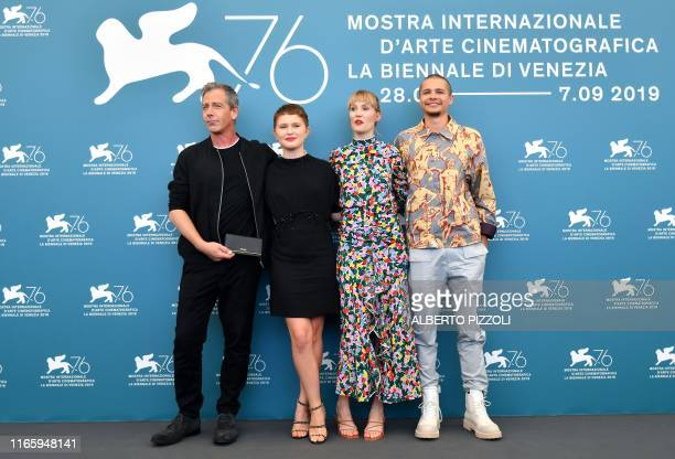 Australian actor Ben Mendelsohn Australian actress Eliza Scanlen Director Shannon Murphy and British actor Toby Wallace pose during a photocall for...