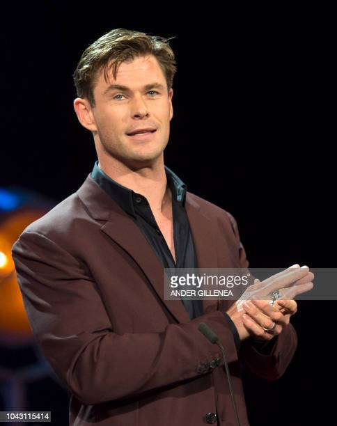 Australian actor Chris Hemsworth attends the screening of the film 'Bad times at the El Royale' during the 66th San Sebastian Film Festival closing...