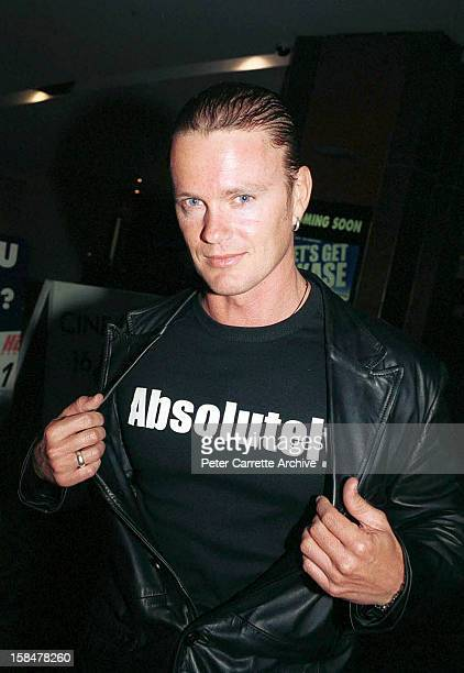 Australian actor Craig McLachlan attends the premiere of his new film 'Let's Get Skase' on October 15 2001 in Sydney Australia