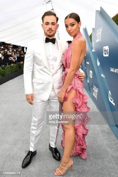 Australian actor Dacre Montgomery and Australian model Liv Polloc attend the 26th Annual Screen ActorsGuild Awards at The Shrine Auditorium on...