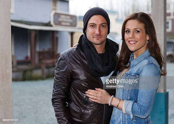Australian actor Daniel Lissing and American actress Erin Krakow pose for a portrait during Hearties Family Reunion fan convention for 'When Calls...