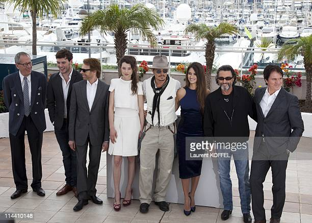 Australian actor Geoffrey Rush British actor Sam Claflin US producer Jerry Bruckheimer French actress AstridBerges Frisbey US actor Johnny Depp...