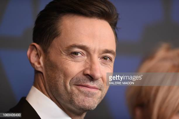 Australian actor Hugh Jackman attends the 10th Annual Governors Awards gala hosted by the Academy of Motion Picture Arts and Sciences at the the...