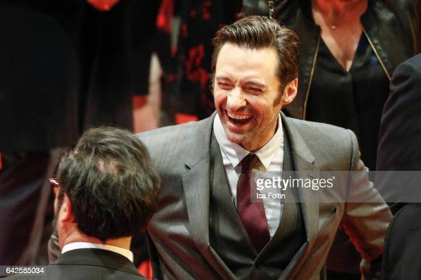 Australian actor Hugh Jackman attends the 'Logan' premiere during the 67th Berlinale International Film Festival Berlin at Berlinale Palace on...