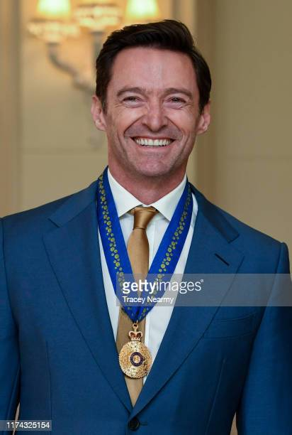 Australian actor Hugh Jackman is awarded an Order of Australia by The GovernorGeneral of Australia David Hurley at Government House on September 13...
