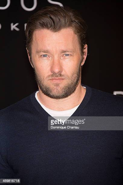 Australian actor Joel Edgerton poses during a photocall for the film 'Exodus Gods and Kings' at Hotel Bristol on December 2 2014 in Paris France