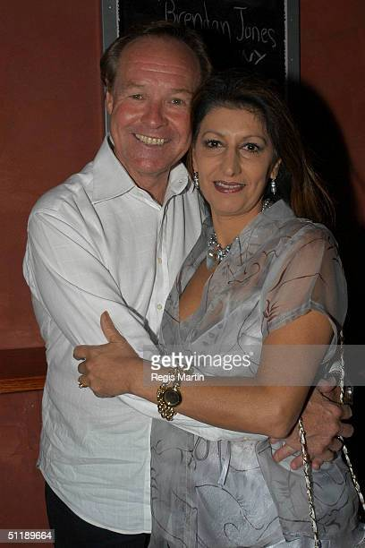 Australian actor Ken James and his fiancee Rosemarie Stuhlener at the restaurant Crazy Crazy Nights for the launch of the new 'Tracy Bartram Live' CD...