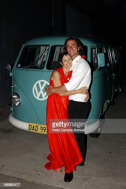 Australian actor Kip Gamblin and dancer Linda Ridgeway at their wedding reception on March 20 2004 in Sydney Australia