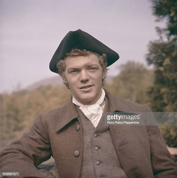 Australian actor Peter Finch pictured in character as Alan Breck Stewart on location during production of the film Kidnapped in the United Kingdom in...