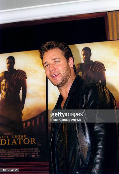 Australian actor Russell Crowe attends a press conference to promote his new film 'Gladiator' on May 04 2000 in Sydney Australia