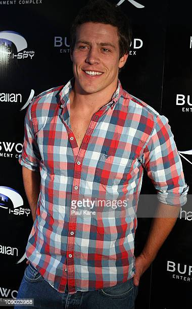 Australian actor Steve Peacocke poses during a Heath Ledger tribute outdoor movie night at Burswood Park on February 12 2011 in Perth Australia...