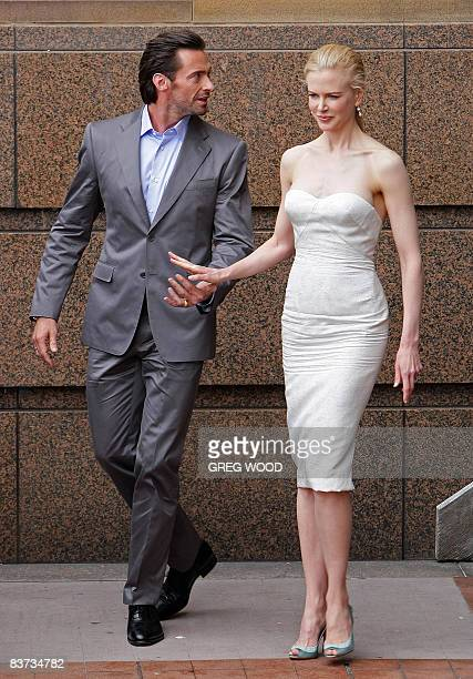 Australian actors Hugh Jackman and Nicole Kidman depart the Museum of Contemporary Art shortly before the world premier of the movie 'Australia' in...
