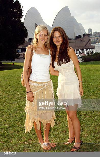 Australian actors Isabel Lucas and Tammin Sursok attend the wedding of Kip Gamblin and Linda Ridgeway at the Botanic Gardens on March 20 2004 in...