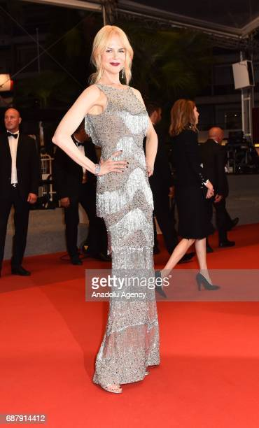 Australian actrees Nicole Kidman leaves after the premiere of the film The Beguiled in competition at the 70th annual Cannes Film Festival in Cannes...