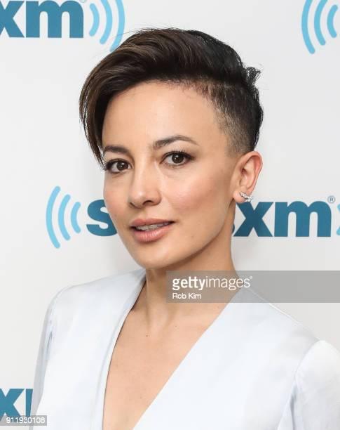 Australian actress Alin Sumarwata visits SiriusXM Studios on January 29 2018 in New York City