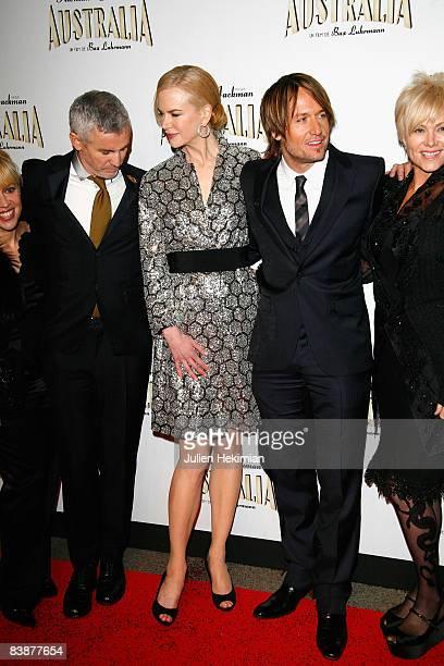 Australian actress and director DeborraLee Furness Australian singer Keith Urban his wife Australian actress Nicole Kidman and Australian director...