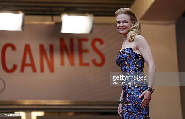 Australian actress and member of the Feature Film Jury Nicole Kidman poses on May 19 2013 as she arrives for the screening of the film Inside Llewyn...