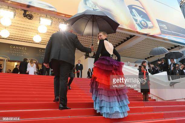 TOPSHOT Australian actress and President of the Jury Cate Blanchett arrives on May 14 2018 for the screening of the film BlacKkKlansman at the 71st...