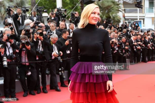 Australian actress and President of the Jury Cate Blanchett arrives on May 14 2018 for the screening of the film BlacKkKlansman at the 71st edition...