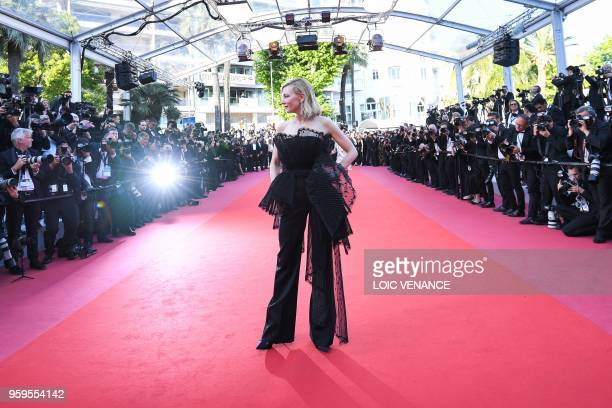 TOPSHOT Australian actress and President of the Jury Cate Blanchett arrives on May 17 2018 for the screening of the film 'Capharnaum' at the 71st...