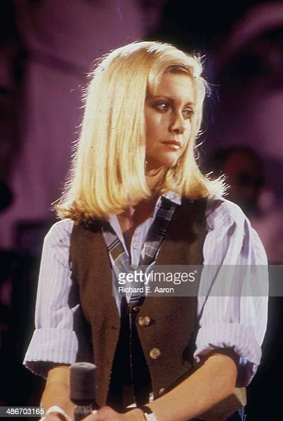 Australian actress and singer Olivia Newton John on stage 1970