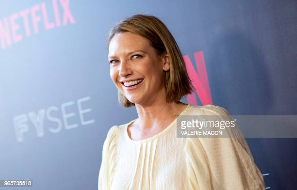 Australian actress Anna Torv poses as she attends the Netflix Mindhunter 'For your Consideration' event in Los Angeles California on June 1 2018