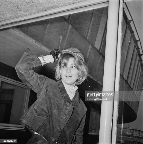 Australian actress Annette Andre at London Airport, UK, 1966.