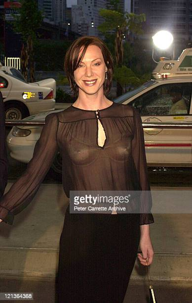 Australian actress Belinda McClory arrives for the 2001 Inside Film Awards at Wharf 8 on November 07 2001 in Sydney Australia