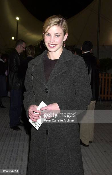 Australian actress Brooke Satchwell arrives for the opening night of the Cirque du Soleil production of 'Alegria' under the Grand Chapiteau at Moore...