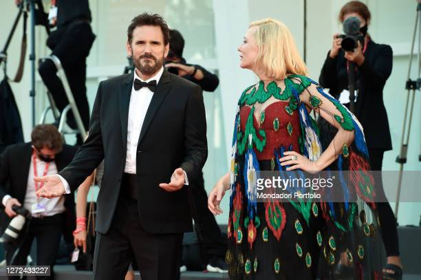 Australian actress Cate Blanchett and American actor Matt Dillon at the 77 Venice International Film Festival 2020 Closing ceremony red carpet Venice...