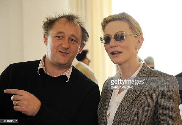 Australian actress Cate Blanchett and her husband Andrew Upton are pictured during an event at the French Embassy in Berlin on April 16 2010 German...