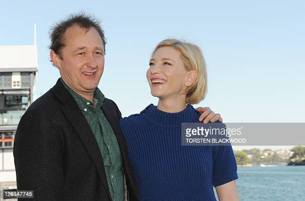 Australian actress Cate Blanchett and her husband playwright Andrew Upton launch Sydney Theatre Company's 2012 Main Stage season in Sydney on...