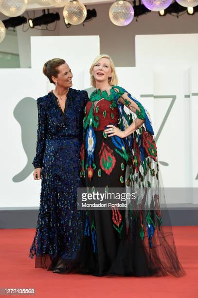 Australian actress Cate Blanchett and Italian actress Roberta Armani at the 77 Venice International Film Festival 2020 Closing ceremony red carpet...