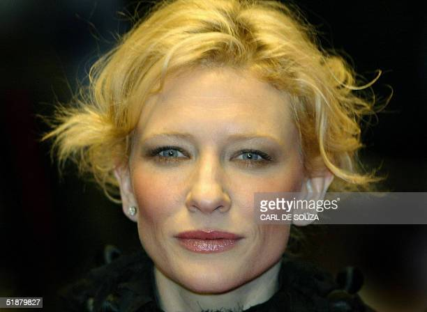 Australian actress Cate Blanchett arrives 19 Decemebr 2004 at the Odeon cinema, at Leicester Square, in London for the U.K film premiere of the...