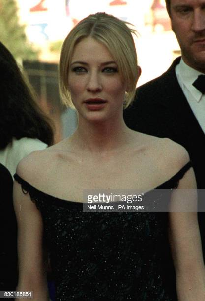 Australian actress Cate Blanchett arrives at the Palais des Festivals for the closing premiere An Ideal Husband directed by Oliver Parker on the...