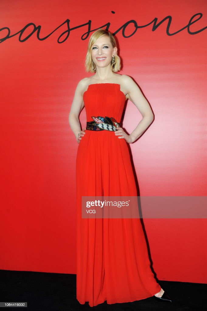 Cate Blanchett Attends Armani Si Passione Perfume Event In Shanghai : News Photo