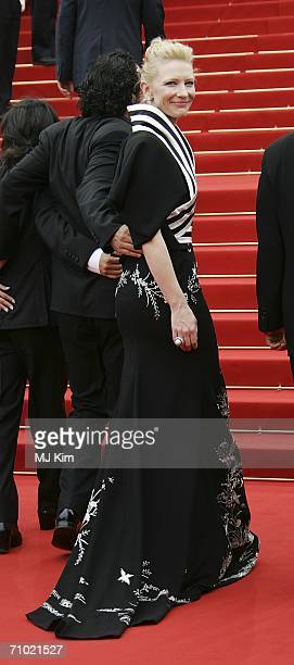 Australian actress Cate Blanchett attends the 'Babel' premiere at the Palais des Festivals during the 59th International Cannes Film Festival May 23...