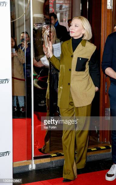 Australian actress Cate Blanchett attends the Stateless photo call during the 70th Berlinale International Film Festival Berlin at Zoo Palast on...