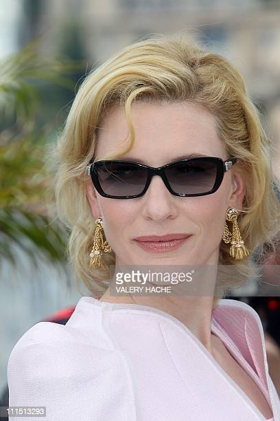 Australian actress Cate Blanchett poses during the photocall of 'Robin Hood' presented out of competition at the 63rd Cannes Film Festival on May 12...