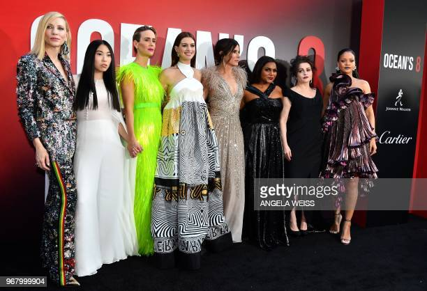 Australian actress Cate Blanchett rapper/actress Awkwafina actress Sarah Paulson actress Anne Hathaway actress Sandra Bullock actress Mindy Kaling...