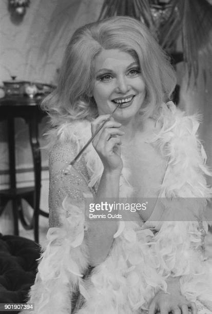 Australian actress Diane Cilento as Rosario in the play 'The Artful Widow' by Carlo Goldoni during dress rehearsals at the Greenwich Theatre London...