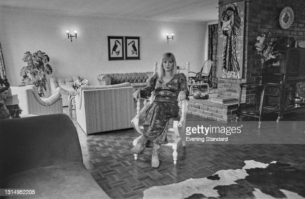 Australian actress Diane Cilento , UK, 22nd April 1971. She is married to Scottish actor Sean Connery.