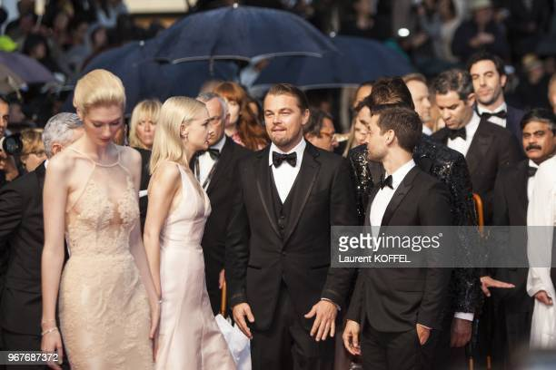 Australian actress Elizabeth Debicki Carey Mulligan Leonardo DiCaprio and Toby Maguire attend the Opening Ceremony and 'The Great Gatsby' Premiere...