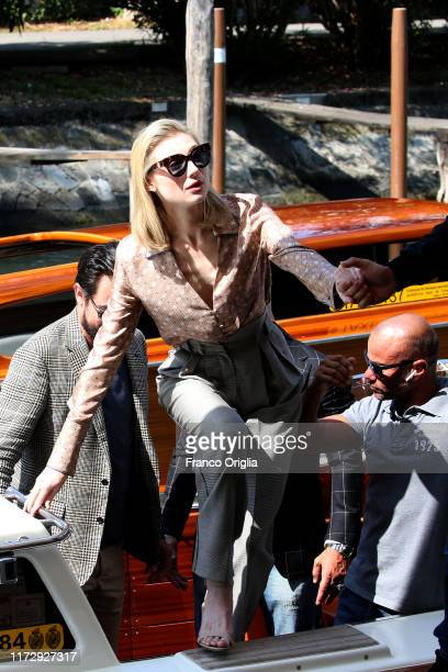 Australian actress Elizabeth Debicki isi seen arriving at the 76th Venice Film Festival on September 07 2019 in Venice Italy